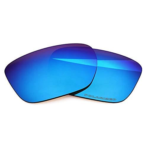 BlazerBuck Lentes de repuesto polarizadas antisal para Oakley Sliver XL OO9341, Azul Hielo Polarizado, Talla única