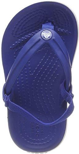 Crocs Unisex-Kinder Crocband Strap Flip Zehentrenner, Blau (Blue Jeans 4gx), 25/26 EU