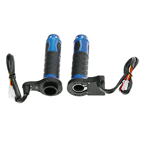 QAZWSXED LESANGBAIHUODIAN Motocicleta 12V Empuñaduras climatizada eléctrica Moto Grip Hot Scooter 22mm 7/8'Manillar Mano Calentador de Aluminio (Color : Blue)