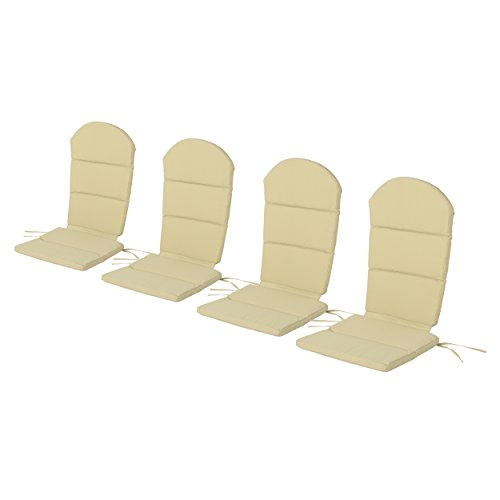 Christopher Knight Home 304641 Terry Outdoor Water-Resistant Adirondack Chair Cushions (Set of 4), Khaki