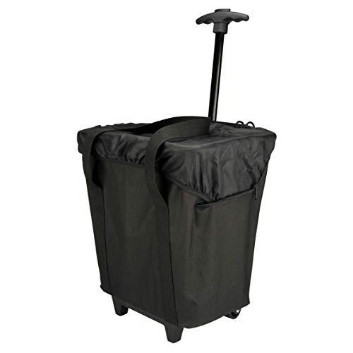 FISCHER Gepäckträgertasche Trolley, schwarz, 28 x 34 x 41 cm, 17 Liter