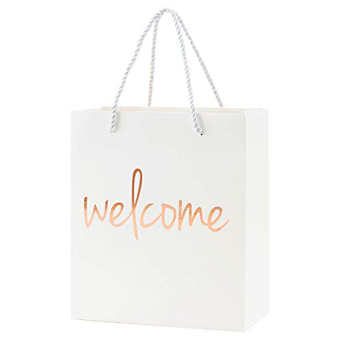 Crisky Welcome Bags Rose Gold Gift Bags for Wedding Hotel Guests  Birthday  Baby Shower  Party Favors Gift Bags  Set of 25