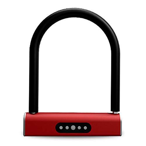 Dfghbn Candado en U Bluetooth Smart T-Bloqueo antirrobo de Bloqueo Anti-hidráulico Cizalla...