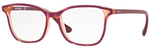 Vogue 0VO5256 Monturas de gafas, Top Red/Text Orange Pink, 51 para Mujer