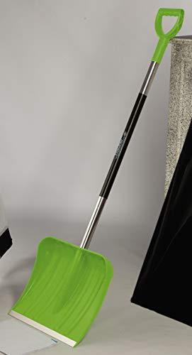 Freund Victoria Schneeschaufel Colourline (Schneeschieber grün, Blattbreite 40 cm, Schaufel mit Aluminiumstiel 105 cm, mit Alu-Profilkante, hoher Seitenrand) 97339