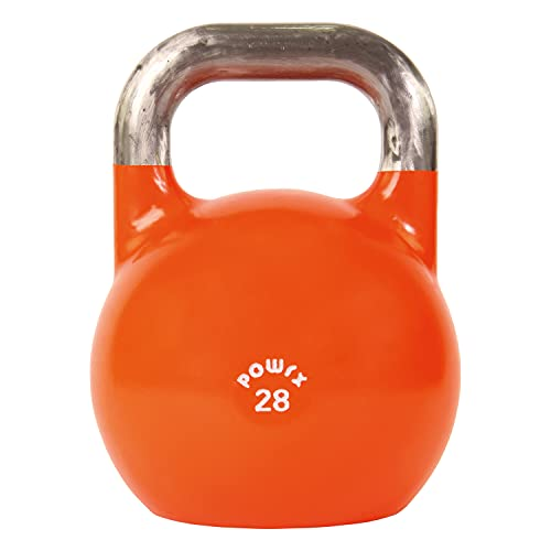 Powrx Competition Kettlebells For Building Strength, Increased Endurance and TONING UP- Gym Quality (28kg (Orange))