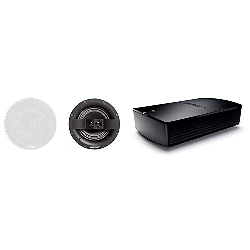 Bose 742897-0200 Virtually Invisible 791 in-Ceiling Speaker II (White) Bundle with Bose SoundTouch SA-5 Amplifier, Works with Alexa, Black