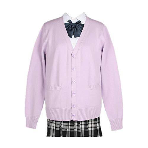 SERAPHY Cardigan da Donna Uniforme Scolastica Maglione Scuola Cardigan Caldo Cardigan in Tinta Unita Abito in Maglia Costume Cosplay Giapponese-LPP-L