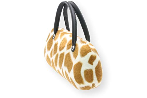 Brillenetui Damen mit samtiger Oberfläche wie Fell – auch innen – 4 verschiedene trendige Designs, Farbe:beige braun Giraffe (012) - 6