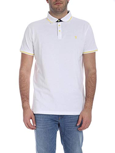 Trussardi Jeans Polo-Shirt Piquet Regular Fit, Bianco (W001/White W001), Medium (Taglia Produttore:M) Uomo