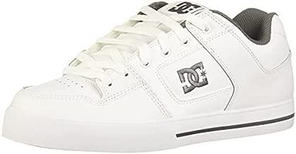 DC Men's Pure Casual Skate Shoe, White/Battleship/White, 13 D US