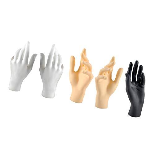 Milageto 5X L & R Hands Display Modellständer Für Juwelier/Wohnkultur, Gemischte Farbe