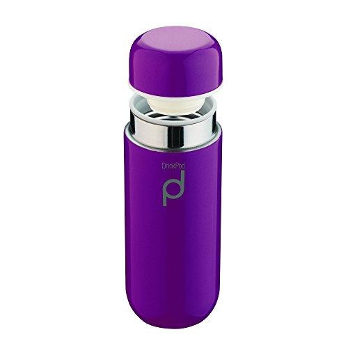 DrinkPod HCF-200PU Gourde, Acier Inoxydable, Violet, 200 ml