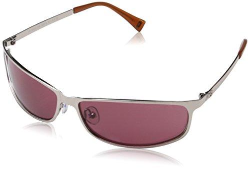 Adolfo Dominguez Ua-15076-102 Gafas de sol, Silver-Amber, 63 para Mujer