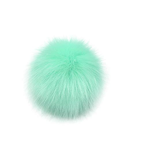 Shirt Luv DIY Knitting Hats Accessires-Faux Fake Fur Pom Pom Ball with Press Button Woman Girls Clothing Accessories