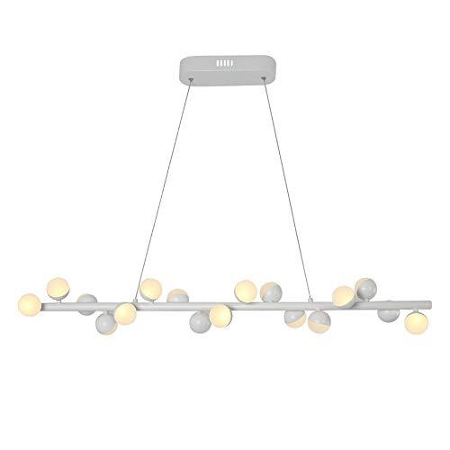 Xiao Fan Postmodern Modular smeedijzeren kroonluchter creatieve persoonlijkheid kunst Magic Bean aluminium hanglamp Nordic Designer restaurant plafondlamp (kleur: wit)