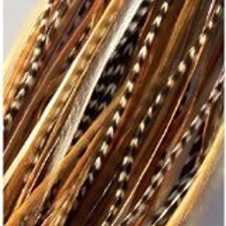 """4""""-6"""" Beautiful Natural Mix Feather Hair Extension Made of Salon Quality Feathers"""