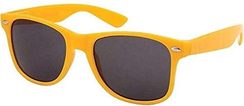 Boolavard TM Sonnenbrille Nerdbrille retro Art. 4026 (Gelb Tönung)