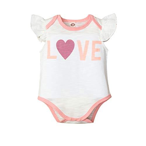 Moent Mameluco y mono para niños, recién nacidos, niñas y niños, para el día de San Valentín, ropa para el día de San Valentín