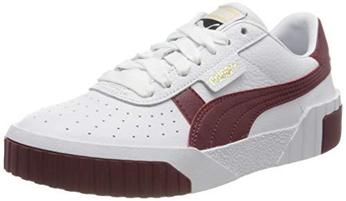 PUMA Cali WN'S, Zapatos Deportivos para Mujer, Blanco White/Burnt Russet 14, 42 EU