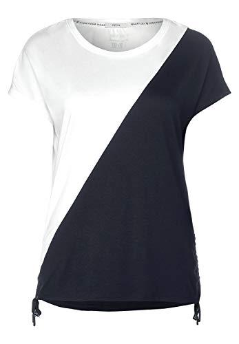 Cecil Damen T-Shirt mit Colourblock-Look deep Blue L