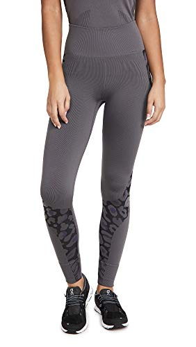 adidas by Stella McCartney Women's True Purpose Seamless Workout Tights, Granit/Black Granit/Noir, Medium
