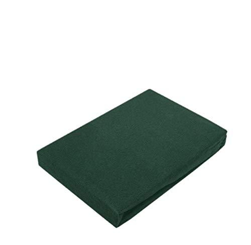 Drap-housse en jersey de qualité supérieure avec élastique, Coton, vert foncé, 180 - 200 x 200 cm
