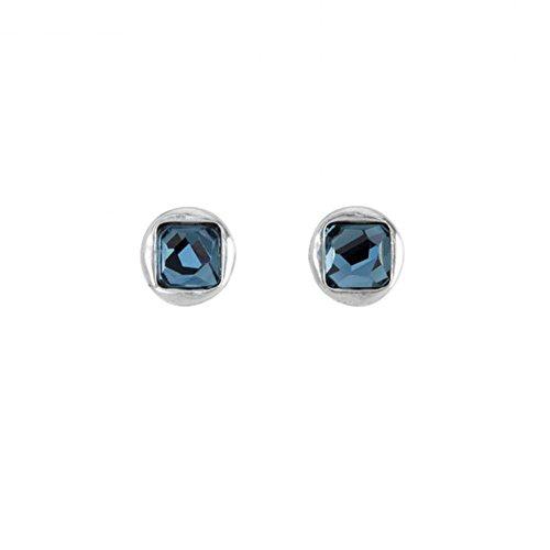 Uno de 50 Mujer chapado en plata azul cristal