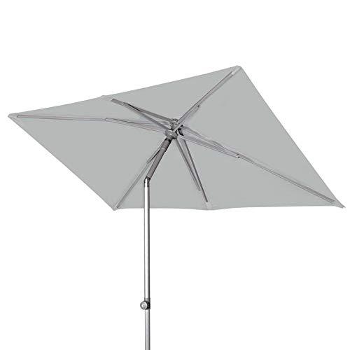 Doppler Sonnenschirm 'ACT Push UP', knickbar, höhenverstellbar, 220 x 130 cm hellgrau