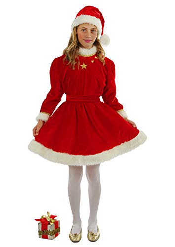 chiber Disfraces Disfraz Infantil de Miss Santa Deluxe (Talla 12 (10-12 años))
