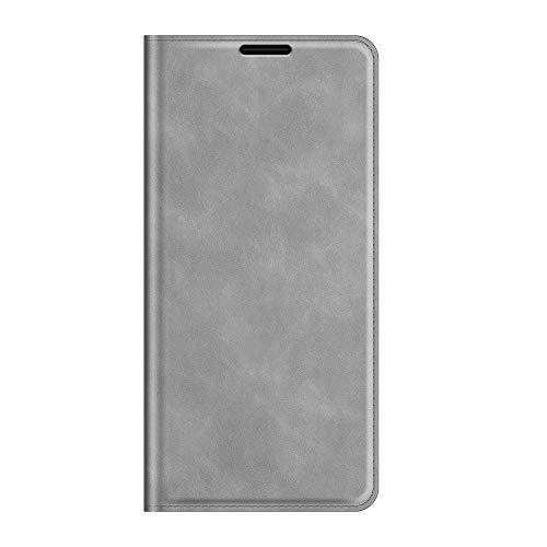 Custodia® Capirotazo Billetera Funda Compatible para ASUS Zenfone 8/ASUS Zenfone 8 Mini (Gris)