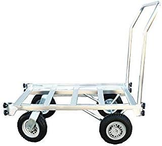 アルミハウスカー コンテナ 2個積用 収穫台車 アルミ運搬車 自在車輪 ノーパンクタイヤ HC-2