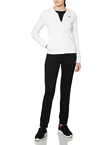 PUMA Classic Hooded Sweat Felpa, Bianco White, XL Donna