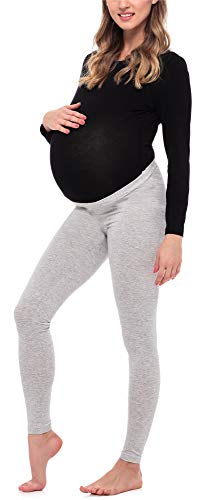 Be Mammy Leggins Premamá Largos Embarazo Lactancia BE20-253(Melange, L)