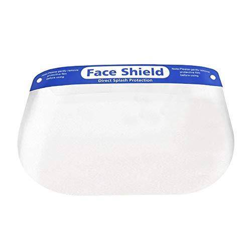 電光ホーム フェイスシールド 10個セット スポンジ ゴム フリーサイズ 透明 飛沫 花粉 ホコリ 保護 衛生 対策 細菌 メンズ レディース 男女兼用 軽量 安全 マスク ウイルス 防塵 防風 予防 ガード 作業 フェイスカバー クリアカバー