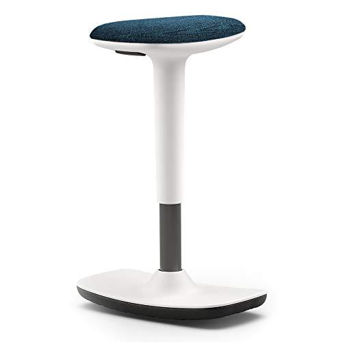Concepts by Braida Taburete Leo giratorio con asiento activo (blanco y azul)