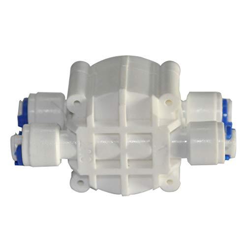 Fivekim - Válvula de 4 vías para válvula apagado automático 1,4' OD tubo purificador agua acuario, agua, máquina ósmosis inversa, filtro serie purificación universal cuatro lados