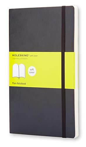 Moleskine Classic Notebook, Taccuino con Pagine Bianche, Copertina Morbida e Chiusura ad Elastico, Formato Large 13 x 21 cm, Colore Nero, 192 Pagine