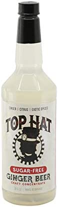 Top Hat Sugar Free Ginger Beer Concentrate Zero Calorie Moscow Mule Mix Makes 6qts of Ginger product image
