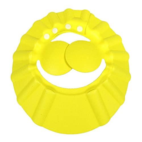 YSJJOSX Gorro Ducha Bebe Niños baño Gorras Ajustable Impermeable protección audífono Ojo Baby Baby taps eva Tapa Lavado Pelo niños Sombreros Infantil (Color : Yellow)