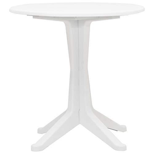 Festnight Garten-Esstisch   Kunststoff Gartentisch   Outdoor Terassentisch   Bistrotisch   Balkontisch   Kunststoff Tisch   Weiß Kunststoff 70 x 72 cm