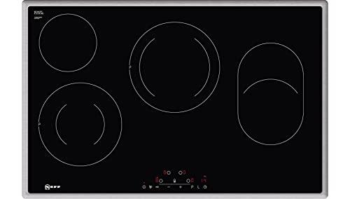 Neff T18BD36N0 Elektrokochfeld N70 / 80 cm / Autarkes Kochfeld / Touch Control / PowerBoost / Bräterzone / Glaskeramik / Edelstahlrahmen