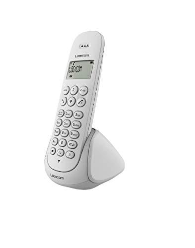 Logicom Aura 100 Téléphone Fixe Sans Fil Blanc