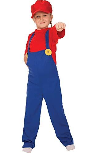 ORION COSTUMES Costume da bimbo travestimento videogioco anni '80 super idraulico, retrò
