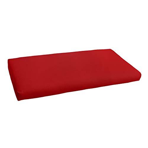 Mozaic AMCS105208 Indoor or Outdoor Sunbrella Bench Cushion, 48', Canvas Jockey Red