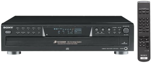 Sony CDP-CE375 5-Disc Carousel-Style CD Changer (Discontinued by Manufacturer) - Black