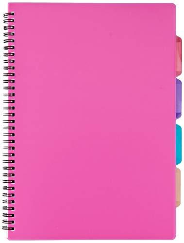 Tiger - Quaderno ad anelli in formato A4, con copertina in plastica, Colori assortiti