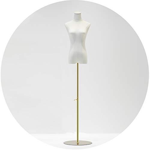 ZHANWEI Mujer Maniquí De Costura, Modelo Mujer Altura Ajustable Forma del Vestido Soporte Exhibición Moda, Vestido Novia Tienda Ropa Ventana Material Lino Brazo Madera (Color : A, Size : Medium)