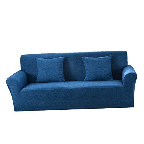 Baoblaze Funda Elástica Premium Love Seat para Sofá, 2/3 Plazas, Elástica Y Todo Incluido - Azul - 3 plazas, Individual