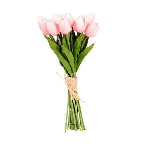 Holmeey Sztuczne tulipany światło zasilany bateriami sztuczny bukiet nastrojowa lampa do dekoracji wnętrz dekoracja stołu aranżacje ślubne